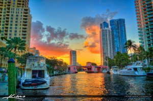 Riveralk Downtown Sunset Fort Lauderdale City